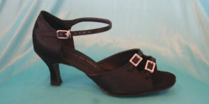 Two Diamante Buckle with Ankle Strap 1110B